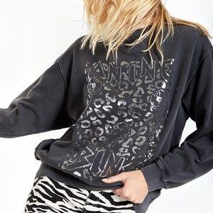 Anine Bing Ramona Jaguar Print Sweatshirt
